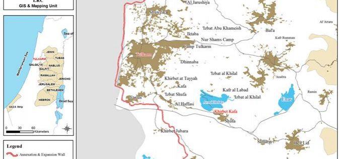 إخطار 5 عائلات من خربة كفا بإخلاء أراضيهم في محافظة طولكرم