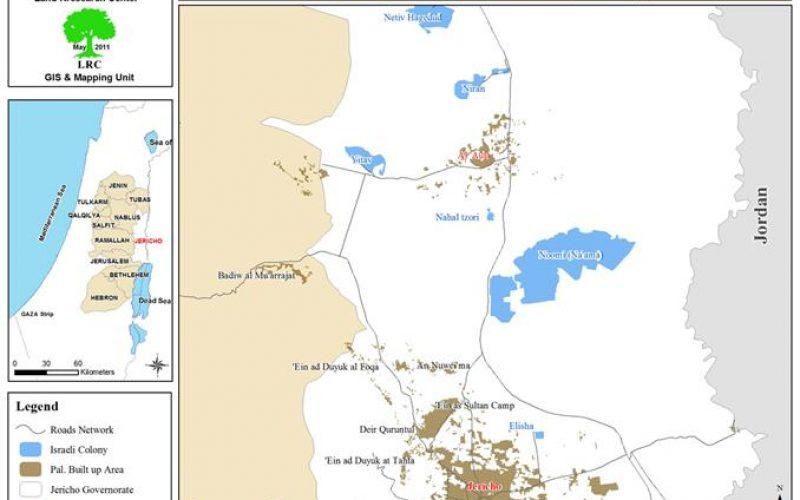 إخطار عدد من المنشآت بوقف العمل والبناء قرية العوجا- محافظة أريحا