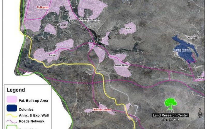 الاحتلال الإسرائيلي يشرع في إقامة جدار الفصل العنصري في قرية جبارة – محافظة طولكرم