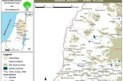هدم آبار زراعية وتهديد بالهدم لمنشآت أخرى في بلدة اذنا – محافظة الخليل
