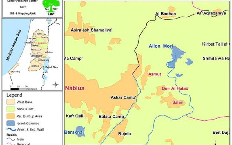 إحراق 250 شجرة زيتون ولوزيات  في قرية دير الحطب – محافظة نابلس