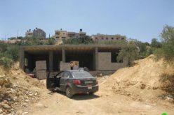 إخطار بوقف العمل والبناء في قرية نحالين – محافظة بيت لحم