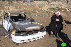 Israeli colonists torch a Palestinian car – Hebron Governorate