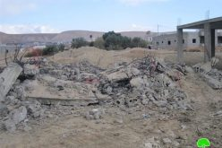 The Demolition of 9 Commercial Structures in Al Ouja- Jericho Governorate