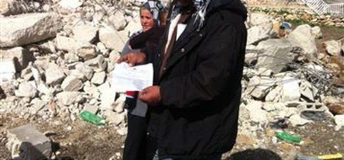 الاحتلال يهدم مسكناً ويشرد أفراده في بلدة عناتا