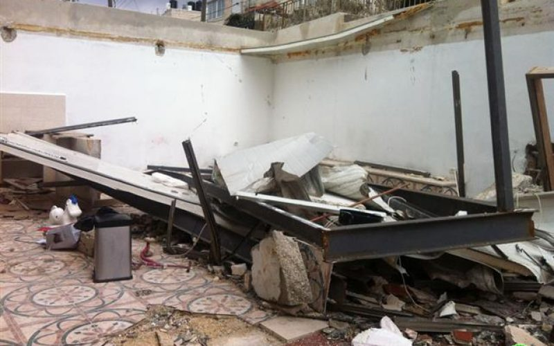 The Partial Demolition of a Palestinian Residence in Shu'fat town in east Jerusalem