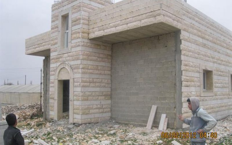 Two Stop Work Orders Against Houses in Al Ma'asara Village- Bethlehem Governorate