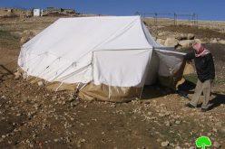 هدم مسكن وآبار مياه وحظائر في سادة الثعلة جنوب الخليل