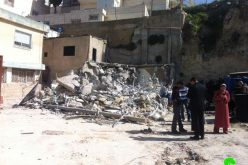 The Israelis demolish a residence in As Suwwana