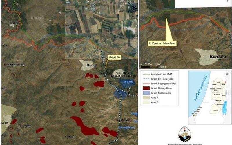 """La saisie secrète et non autorisée de terres palestiniennes dans la vallée du Jourdain <br> """"Le cas des terres Al Valley Qa'oun"""""""