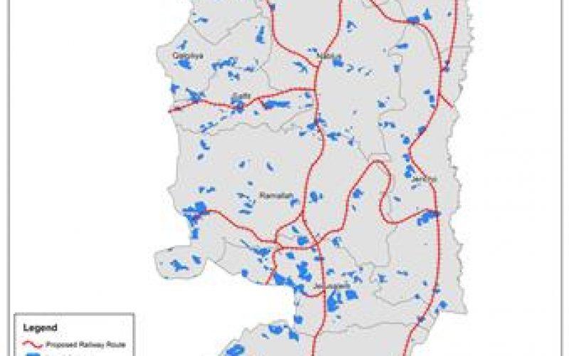 سكة الحديد الإسرائيلية المقترحة  على أراضي الضفة الغربية … وضياع مائة ألف دونم جديدة