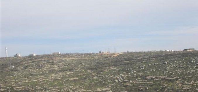 """مستوطنو """"ايتمار"""" يستولون على مئات الدونمات الزراعية في مناطق """" ب"""" في خربة اليانون / محافظة نابلس"""