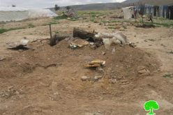 الاحتلال الإسرائيلي يهدم  عدداً من المنشآت السكنية و الزراعية في  فصايل الوسطى- محافظة أريحا