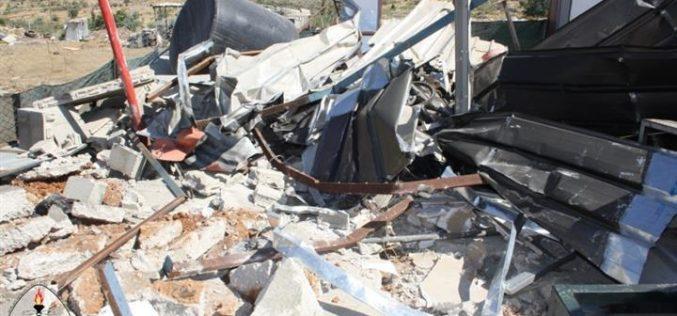 Tearing Down a Car Wash in Husan village – Bethlehem