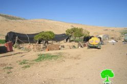 هدم عدداً من البركسات و الخيام السكنية في خربة طانا/ محافظة نابلس