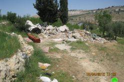 هدم مسكن زراعي في موقع المخرور – بيت جالا