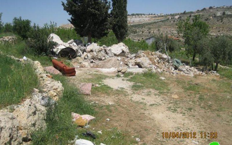 Demolishing a Shack in Beit Jala