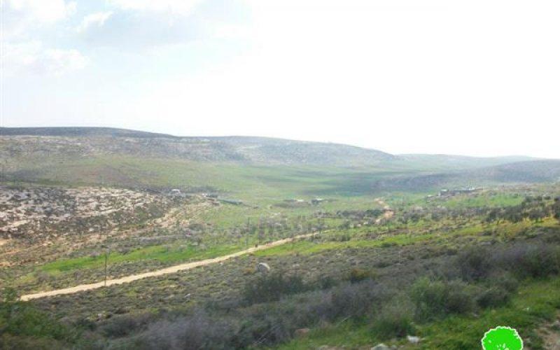 منع شق طريق زراعية تربط خربة ابزيق بقرية رابا