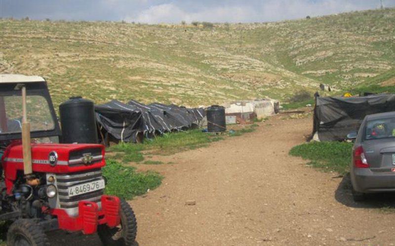 إخطار ستة مواطنين بوقف البناء لمنشآتهم الزراعية في خربة ابزيق / محافظة طوباس