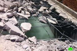 Demolishing a Cistern in Beit Hanina north of Jeruaslem city
