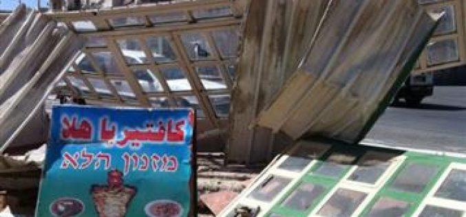Demolition a Cafeteria in Hizma