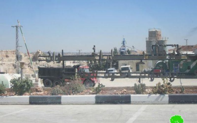 The Israeli Occupation Authorities confiscated a dozer and a mixer truck from Qindeel Concrete Factory in Rafat village