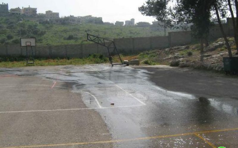 Pumping Huge amount of Sewage towards 'Azzun High School