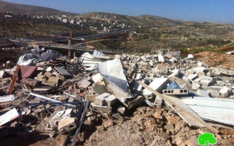 بلدية الاحتلال تهدم مسكناً في حي الأشقرية في بيت حنينا شمال مدينة القدس المحتلة