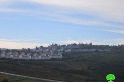 """أعمال توسعة تشهدها مستوطنة """" حلاميش"""" على أراضي قرية النبي صالح"""