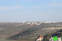 الاحتلال الاسرائيلي يخطر بوضع اليد على أراضٍ في قرية قصرة /محافظة طوباس