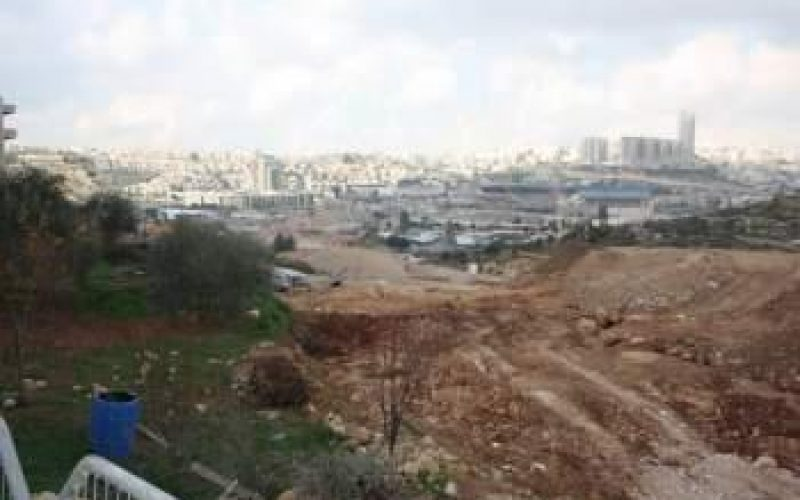 """""""At a cost of USD 1.1 Billion""""  <br> Israel takes over 234 Dunums of Lands of Beit Safafa and Sharafat to construct the Israeli bypass road No. 50"""