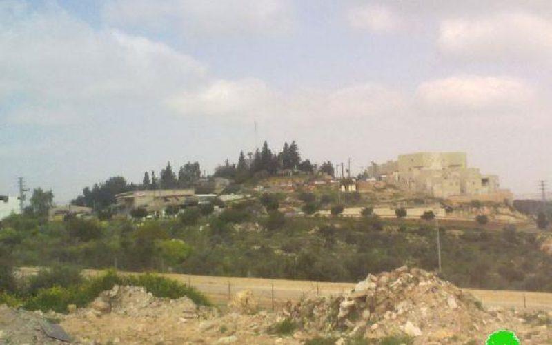 الاحتلال الإسرائيلي يعلن وضع اليد على 74 دونماً من أراض بلدتي الزاوية وسنيريا