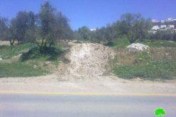 إغلاق طرقاً زراعية في بلدة يعبد، وتدمير خط المياه المغذي لخربة امريحة: