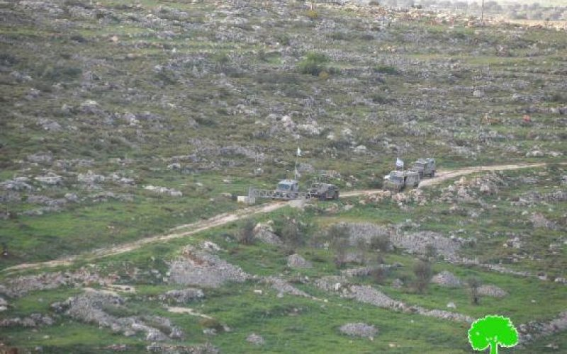 The Israeli Occupation Closes Agricultural Roads