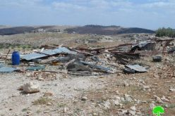 الاحتلال يهدم بركس زراعي في الديرات شرق يطا