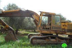 Setting 22 Dunums of Agricultural Lands Ablaze in Urif village -Nablus Governorate
