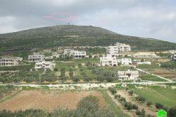 جلعاد زوهر وسيلة حية في تدمير الأرض الزراعية في قرى جيت وفرعتا وتل