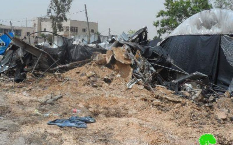 هدم 3 منشآت حِرَفية في قرية جينصافوط / محافظة قلقيلية