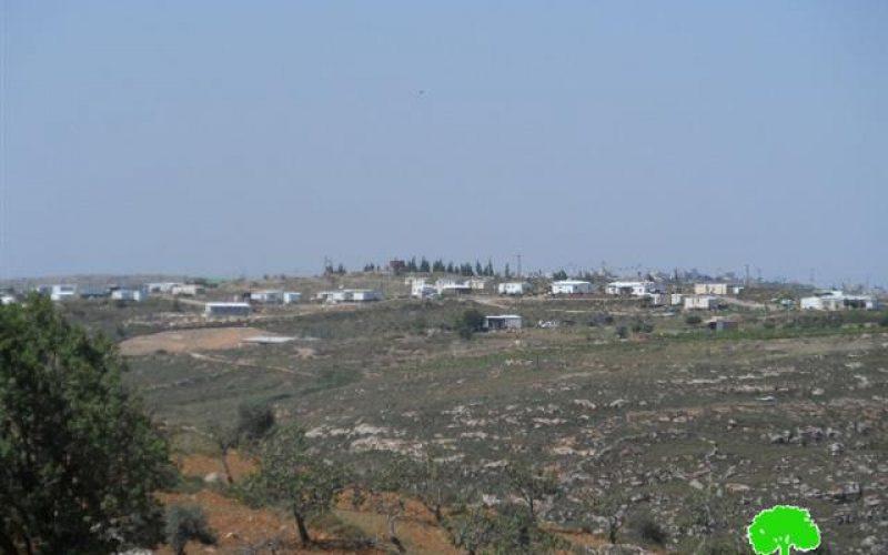 أعمال توسعة للبؤرة الاستعمارية عمونة تطال الموقع الأثري دير خديجة في قرية دير جرير