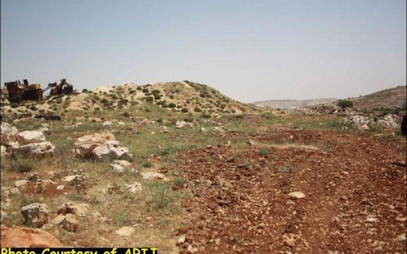 """The hypocrisy of Israeli settlement freeze"" <br> Israel is targeting Khallet Al Lauza and Khallet Al Nahleh Lands in Bethlehem Governorate"