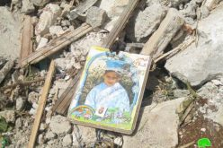 The Israeli Occupation Authorities demolishes a residential building: