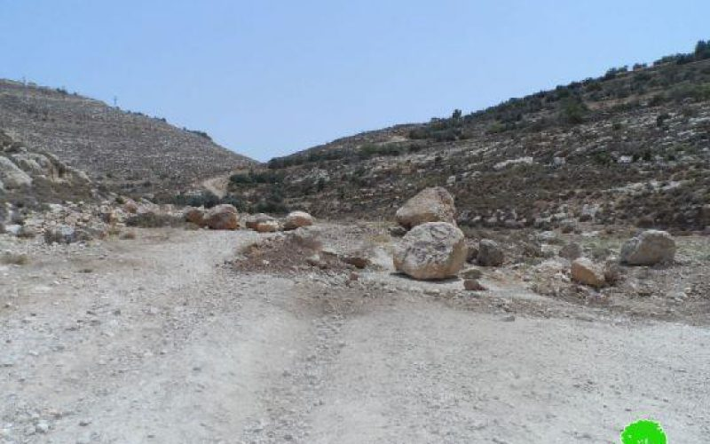 Blocking an Agricultural Road in Idhna Town
