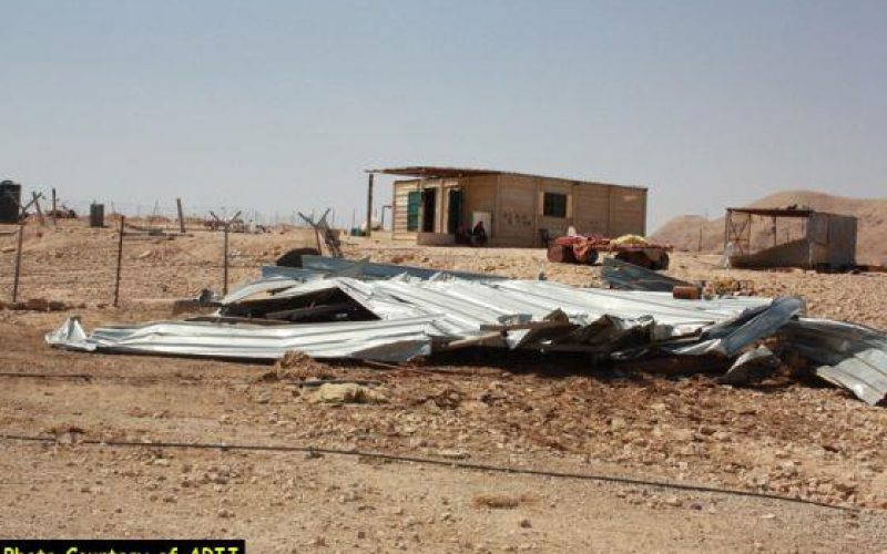 Wave of Israeli Demolition in An-Nwie'ma village North of the City of Jericho in the Jordan Valley