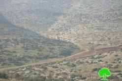 مواصلة منع شق طريق زراعي يربط خربة ابزيق بقرية رابا / محافظة طوباس