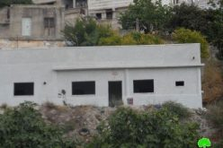 إخطار 6 عائلات بوقف البناء لمنشآتهم السكنية في قرية صرة / محافظة نابلس