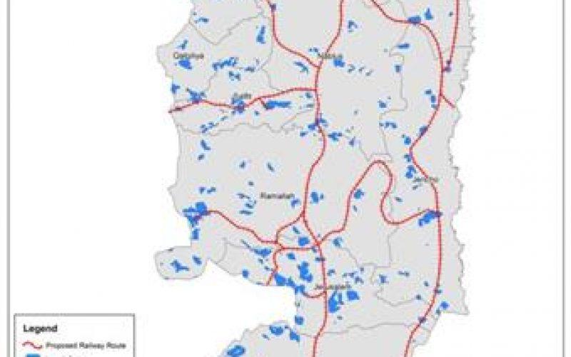 المصادقة على مخطط القطارات على أراضي الضفة الغربية المحتلة