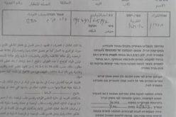 اخطارات بوقف العمل في منزلين و3 آبار مياه في الكوم غرب الخليل