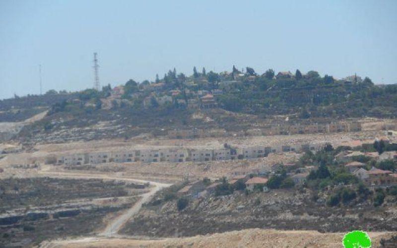 بناء وحدات سكنية جديدة في مستوطنة كدوميم   / محافظة نابلس