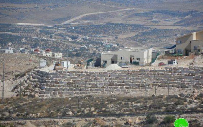دائرة الاستيطان التابعة للحركة الصهيونية تمول اعمال بنى تحتية في مستعمرة نيجهوت