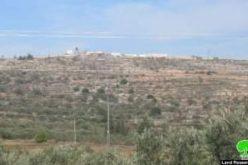 الشروع بإقامة بؤرة استيطانية جديدة على أراضي قرية عينابوس / محافظة نابلس